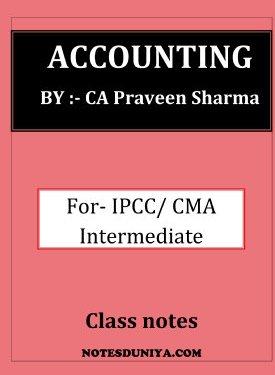 Accounting ipcc cma intermediate by Praveen Sharma