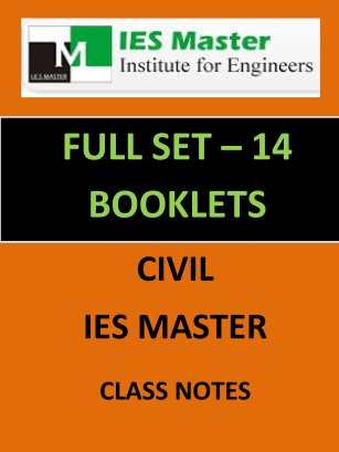 IES MASTER CLASS NOTES FULL SET 14 BOOKLETS GATE IES PSUs
