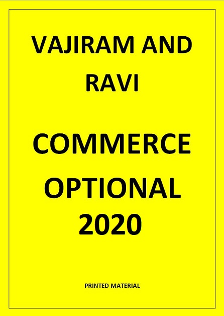 COMMERCE OPTIONAL VAJIRAM AND RAVI PRINTED NOTES