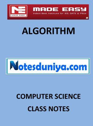 ALGORITHMS MADE EASY CLASS NOTES for IES GATE IAS PSUs
