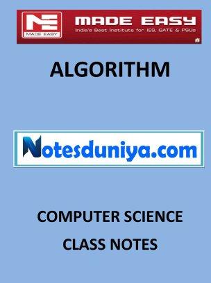 ALGORITHMS MADE EASY CLASS NOTES for IES GATE IAS PSUs