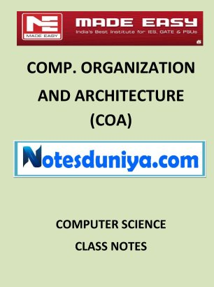 COA MADE EASY CLASS NOTES for IES GATE IAS PSUs
