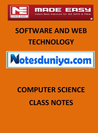 SOFTWARE AND WEB LEARNING MADE EASY CLASS NOTES for IES GATE IAS PSUs