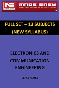 ELECTRONICS AND COMMUNICATION ENGINEERING MADE EASY CLASS NOTES