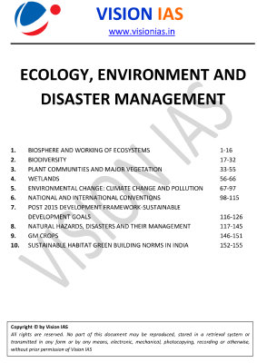 Enviornment and ecology vision 2017 free downlaod