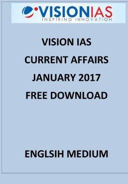 VISION IAS JANUARY 2017 CURRENT AFFAIRS
