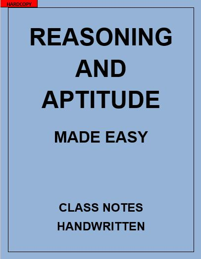 REASONING AND APTITUDE MADE EASY CLASS NOTES