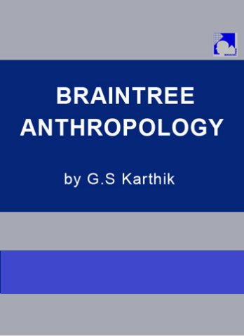 ANTHROPOLOGY by G S KARTHIC PRINTED MATERIAL