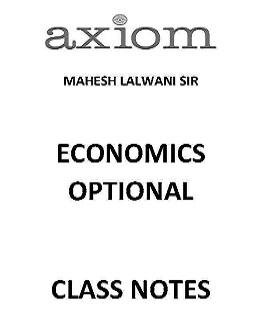 AXIOM IAS MAHESH LALWANI ECONOMICS OPTIONAL CLASS ROOM