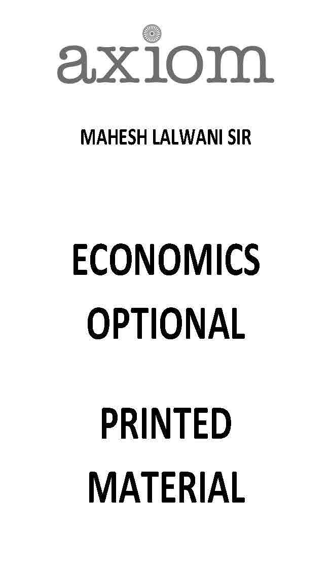 AXIOM IAS MAHESH LALWANI ECONOMICS OPTIONAL PRINTED