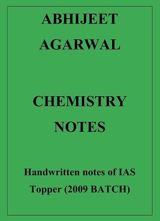 Chemistry Handwritten notes of IAS Topper Abhijeet Agarwal Hard Copy