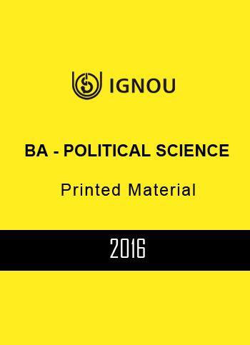 IGNOU BA POLITICAL SCIENCE PRINTED MATERIAL