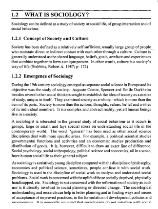 IGNOU BA SOCIOLOGY PRINTED NOTES