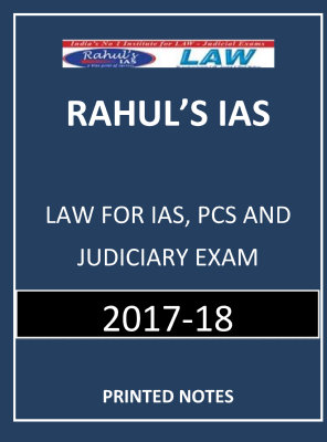 LAW by Rahul IAS PRINTED NOTES
