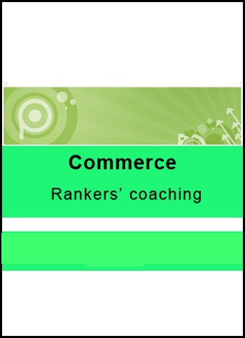 Printed notes of Commerce by Rankers Coaching