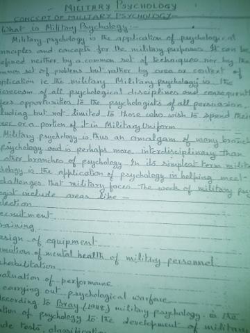 Psychology class notes MUKUL PATHAK VAJIRAM AND RAVI