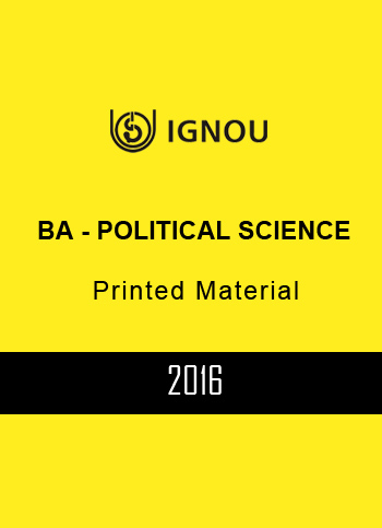 IGNOU BA POLITICAL SCIENCE PRINTED MATERIAL