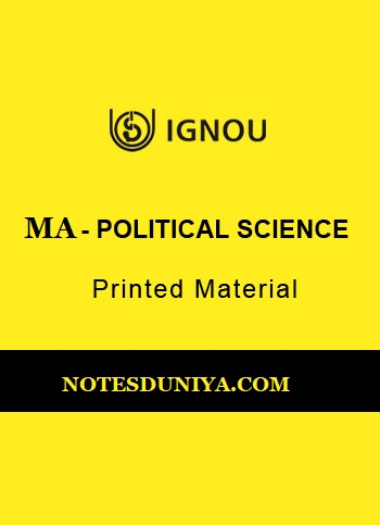 IGNOU MA POLITICAL SCIENCE PRINTED MATERIAL