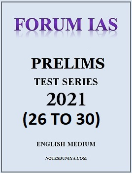 forum-ias-prelims-2021-test-series-26-to-30-english-medium