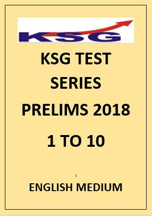 KSG prelims papers English Medium 2018 1 to 10