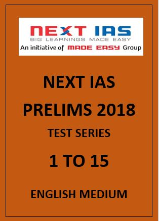NEXT IAS prelims papers English Medium 2018 1 to 15