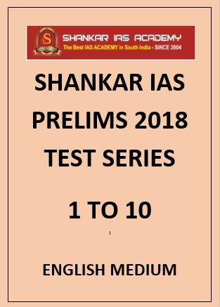 Shankar IAS prelims papers English Medium 2018 1 to 10
