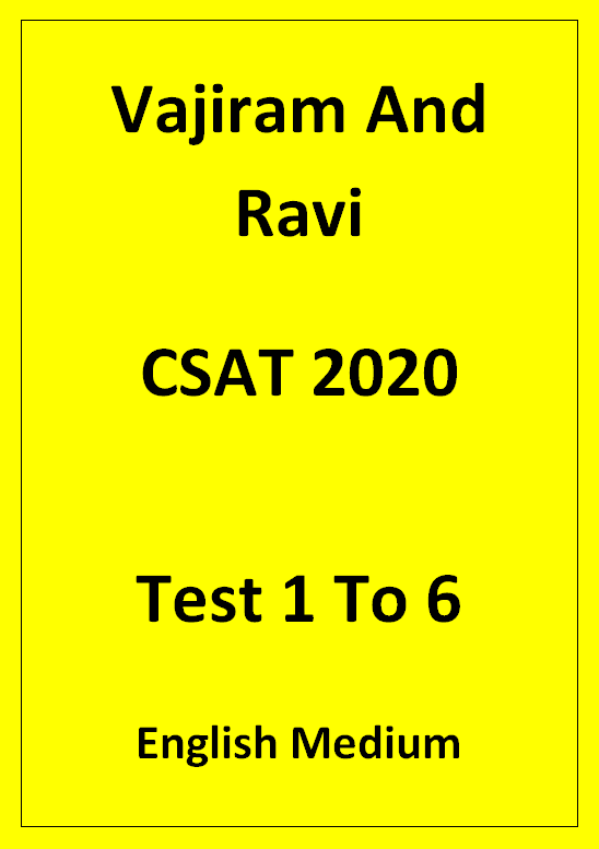 Vajiram And Ravi CSAT Prelims Test 1 To 6 English Medium