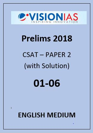 Vision Ias 2018 CSAT 1 to 6 English medium
