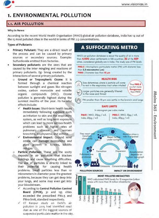 vision-ias-mains-365-environment-printed-material