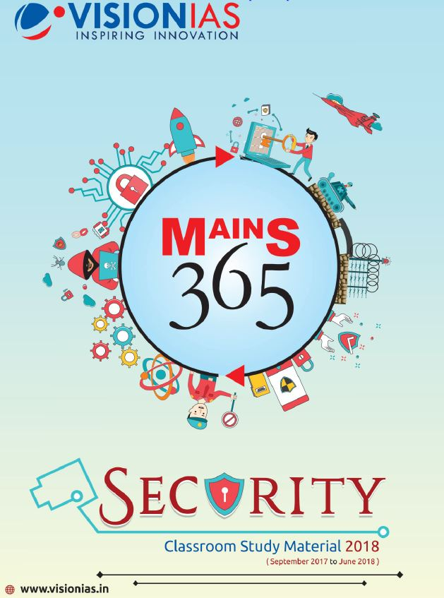VISION IAS MAINS 365 SECURITY PRINTED MATERIAL