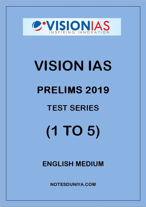 VISION IAS Prelims Test Series 2019 1 To 5 English Medium