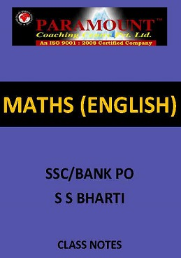 MATHS SSC S S BHARTI ENGLISH CLASS NOTES