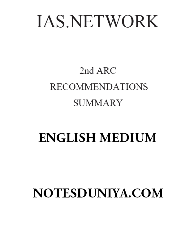 IAS network 2nd arc recommendations summary printed notes