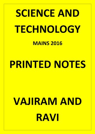 Science and technology vajiram printed material for 2017