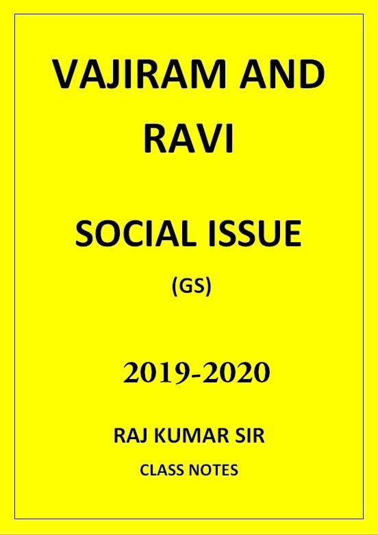 SOCIAL ISSUE RAJ KUMAR VAJIRAM AND RAVI CLASS NOTES