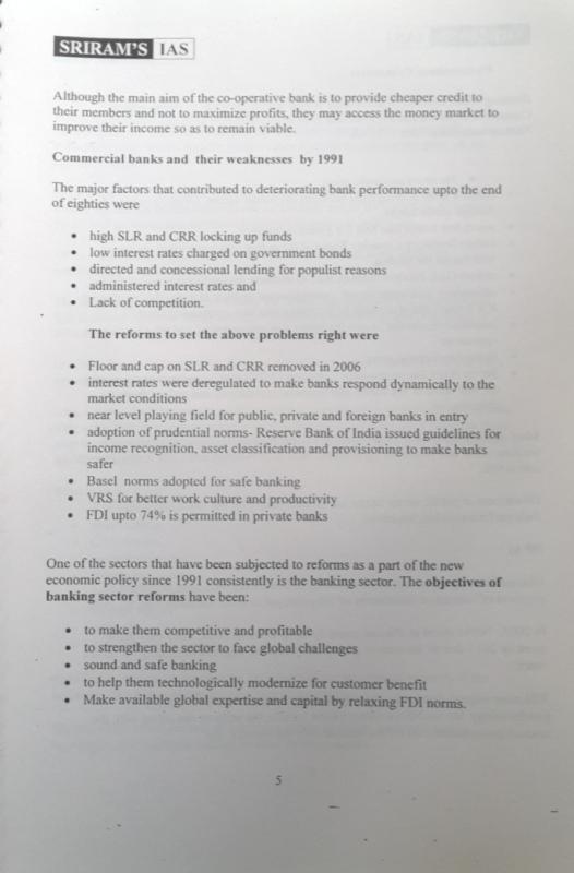 Sriram IAS  Economy Notes