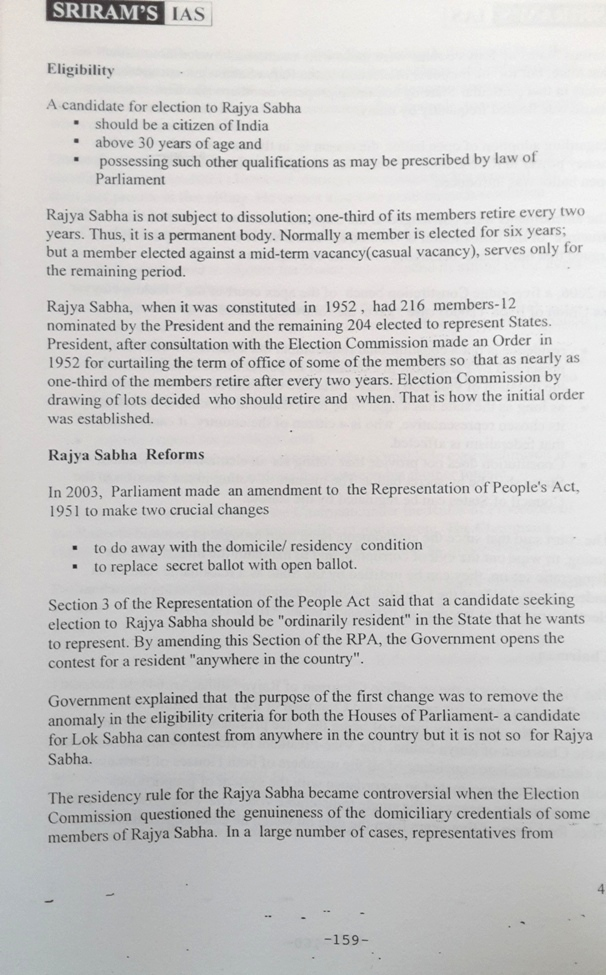 SRIRAM IAS Polity Governance and constitution Notes