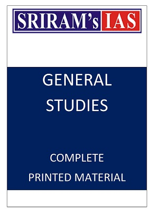 SRIRAM IAS PRINTED NOTES FOR GENERAL STUDIES