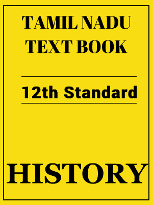 Tamil Nadu History Textbook 12th Standard