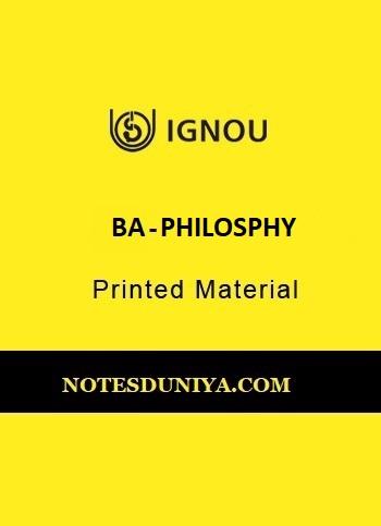 IGNOU BA PHILOSPHY PRINTED MATERIAL