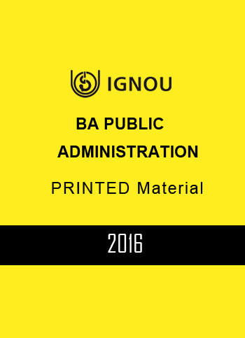 IGNOU BA PUBLIC ADMINISTRATION PRINTED MATERIAL