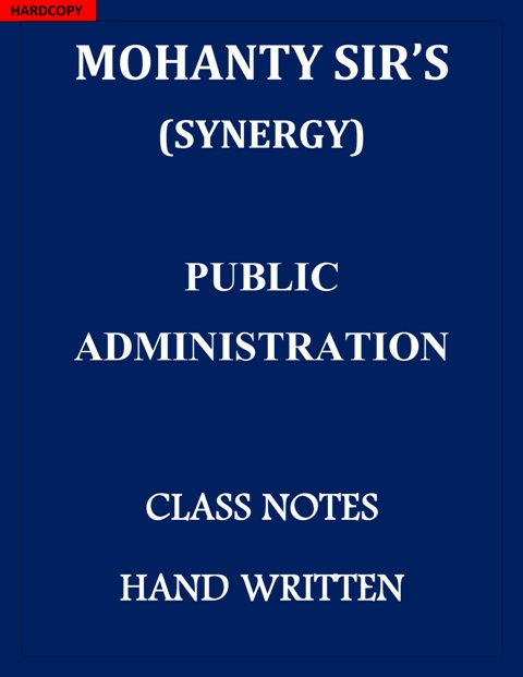 public-administration-optional-mohanty-sir-synergy