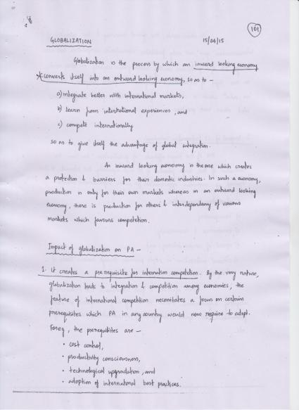 Public Administration VAJIRAM AND RAVI HAND WRITTEN