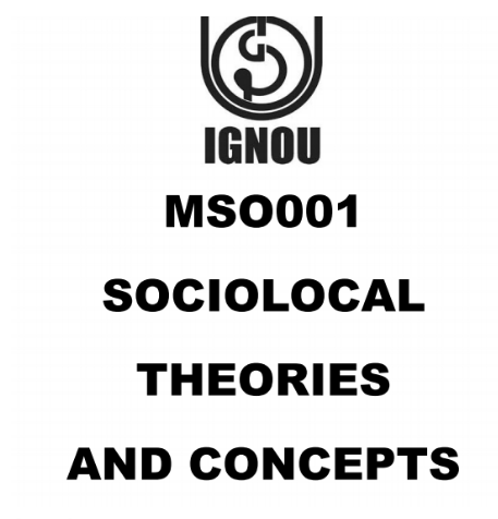 IGNOU MA SOCIOLOGY PRINTED MATERIAL