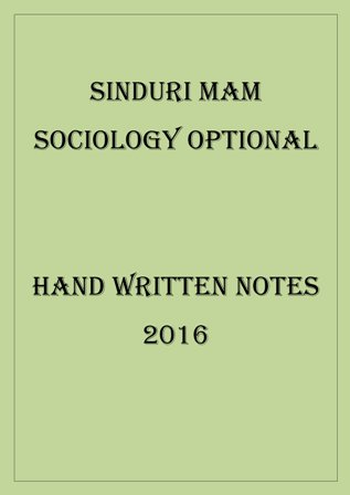 SINDURI MAM SOCIOLOGY OPTIONAL