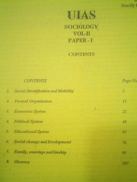 SOCIOLOGY PRINTED MATERIAL UPENDRA GAUR UIAS